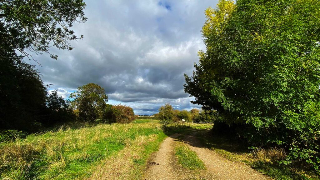 Green fields under a stormy sky, Aslockton