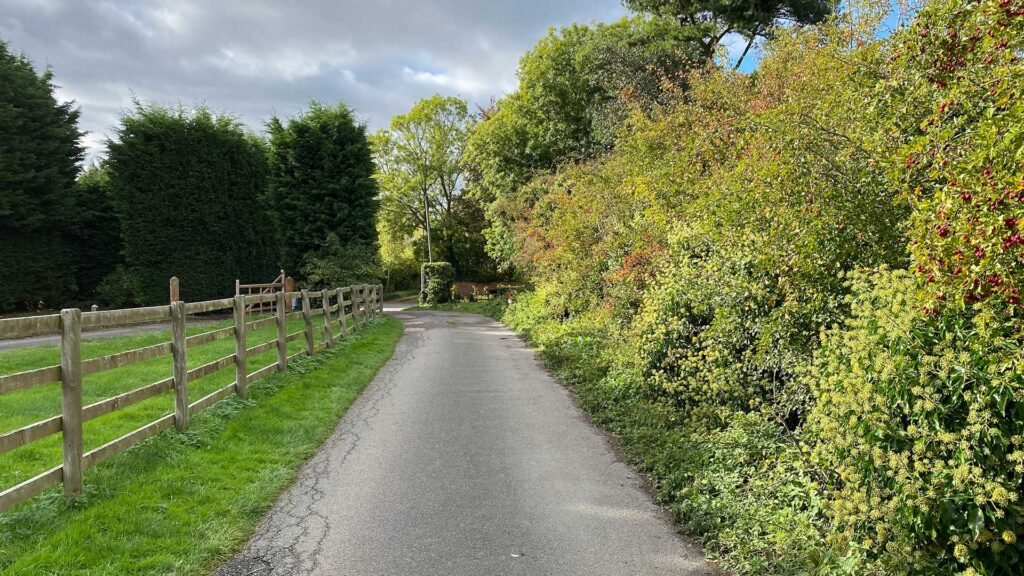 Public footpath that leads out of Aslockton across the fields